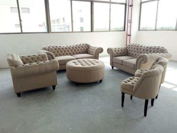 China Kleines Gewebe-Chesterfield-Sofa, grauer Gewebe-Chesterfield-Sofa Soem-Service usine